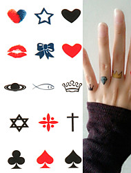 Lucky Poker Crown Tattoo Stickers Temporary Tattoos(1 Pc)