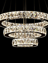 LED Chandeliers Light Modern Lighting Warm White Three Rings D405060 ClearK9 Large Crystal Hotel Ceiling Lights