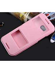 Pour Coque HTC Avec Support / Avec Ouverture / Clapet Coque Coque Intégrale Coque Couleur Pleine Dur Cuir PU pour HTCHTC One M9 / HTC One