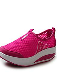 Scarpe Donna - Sneakers alla moda - Casual - Punta arrotondata - Basso - Tulle - Nero / Blu / Rosso / Grigio