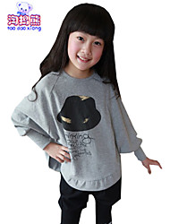 Waboats Winter Kids Girls Hat Printed Bat Long Sleeve Top