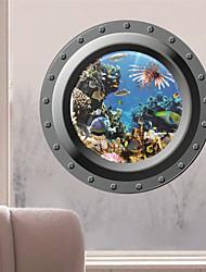 3d décalcomanies stickers muraux de mur, mur de pvc style marin autocollants