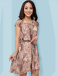WEST BIKING® Women's Sleepwear Soft Printing Chiffon Sleep Dress China Nightdress Casual Belt Home Clothes