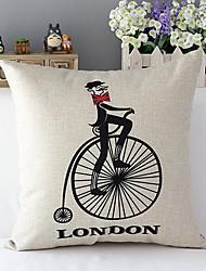 país euro bicicleta londres modelado algodão / linho cover decorativo travesseiro
