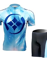 Blue Water Short Sleeved Riding Clothes Suit, Moisture Cycling Wear, Motor Function Material