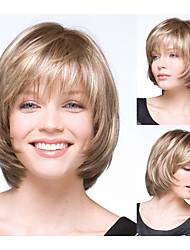 vrouwen bobo kapsels blonde straight synthetische pruiken