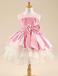 Flower Girl Dress - Longueur genou Princesse - Col bateau ( Satin/Tulle )