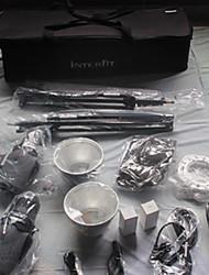 Passung fotografischen fa807-300w / 220v digital, 300w / s zwei Flash-Kit mit Licht steht, Sonnenschirm, Softbox&Fall.