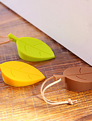 Silicone Leaf Leaves Home Door Stop Stopper Baby Safety Protection (Random Color)