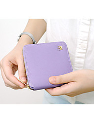New Korean Compact Crown Cross Pattern Short Paragraph Small Zipper Bag Ladies Purse Coin Purse Wallet Card Package