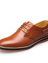 Men's Shoes Wedding Leather Oxfords Black/Blue/Brown
