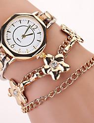 nuevas mujeres calientes flores visten los relojes pulsera punky retro correa de cuero de cuarzo laminado venta caliente de las mujeres de