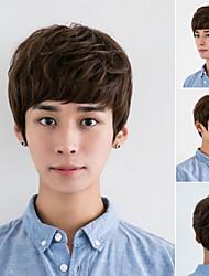 cheveux mâle de perruque perruque non-traditionnels d'édition de Han hommes garçon perruque pelucheux fabricant beau mâle Vente en gros