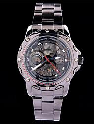 MCE direto da fábrica alta qualidade relógio de luxo de moda preto de aço inoxidável relógio mecânico oco para homens automáticos