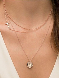 Sideways Cross Necklace New Arrival Fashional Hot Selling Simple Cross Licensing Round Necklace