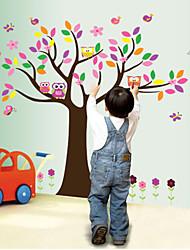 наклейки для стен стены наклейки наклейки стиль Сова дерево ПВХ стены