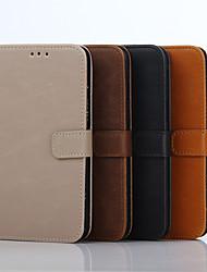 5 Inch Crazy Ma Pattern Luxury Genuine Leather Wallet Case for Samsung Galaxy J5 J5008