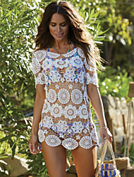 New Sexy Hollow Out Beach Cover Lace Ladies Swimsuit 2015 Lace Beach Wear Swimsuit Women Sexy Cover up