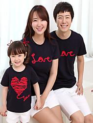Ensembles de vêtements pour la famille Eté Manches Courtes Coton Moyen Elastique