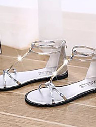 Sandalias Dorado/Plateado )- 0-3cm - Tacón plano para Zapatos de mujer
