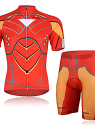 Effect Of Super Iron Man Cycling Wear Short Sleeved Suit, Moisture Cycling Wear, Motor Function Material