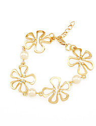 YEZA jewelry fashion jewelry pearl flower bracelet party essential female accessories
