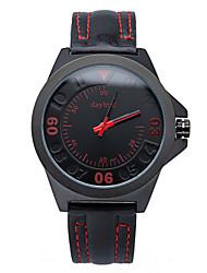 moda ciência futuro mens simples pulseira de couro pu relógios de alta qualidade.