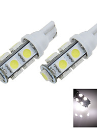 2X White T10 W5W 9 SMD 5050 LED Car Clearance Reading Lamp Side Light BulbDC12V  A010