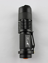 LED Flashlights/Torch LED 350 Lumens 1 Mode LED 14500 Adjustable Focus / RechargeableCamping/Hiking/Caving / Everyday Use / Cycling/Bike