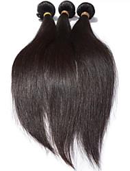 """3 PC sortean 8 """"-28"""" pelo virginal brasileño # 1b recto fábrica brasileña del pelo del pelo humano ventas al por mayor del pelo"""