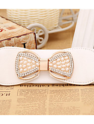 Women Fashion Pearl Bow Type Belt Party/Casual Alloy Others Wide Belt