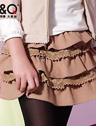 Girl's Summer Micro-elastic Thin Skirts (Polyester/Wool)