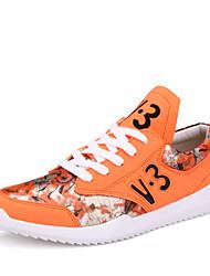 Men's Running Shoes Faux Leather Black/White/Orange