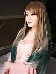 прямо леди парики волос косплей парики из синтетических волос