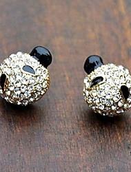Filled Cute Little Panda Stud Earrings