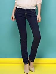 Womens pencil pants pants skinny pants denim trousers was Korean
