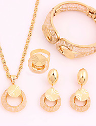 New Arrival Various Occasions Simple Alloy Gold Plated (Including Necklace, Earring, Bracelet) Jewelry Sets