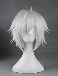 Cosplay Wigs Is It Wrong to Try to Pick Up Girls in a Dungeon Bell Cranel White Short Anime Cosplay Wigs 33 CM Heat Resistant FiberMale /