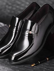 Zapatos de Hombre Boda/Oficina y Trabajo/Fiesta y Noche Cuero/Cuero Patentado Oxfords Negro