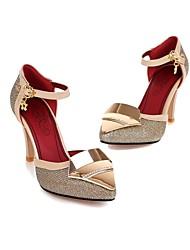 Scarpe Donna - Scarpe col tacco - Formale - Tacchi / Chiusa - A stiletto - Finta pelle - Nero / Argento / Dorato