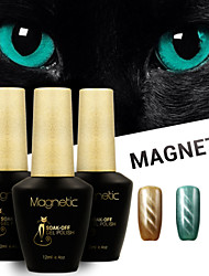 Azure 3 Pcs/Lot UV Cat Eyes Magnetic UV Gel Polish Gel Soak Off Nails Art Lasting Lacquer (#66+#67+#69)