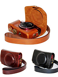 Dengpin PU Leather Camera Case Bag Cover with Shoulder Strap for Canon PowerShot SX710 HS SX700 HS(Assorted Colors)
