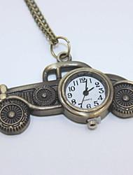 творческий автомобиль форме карманные часы свитер ожерелье