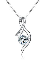 jazlyn® donna platinato 925 anni fiore pendente collana zirconi per il regalo