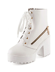 Women's Shoes Synthetic/Rubber Chunky Heel Heels/Platform/Fashion Boots/Bootie/Round Toe/Closed Toe Boots