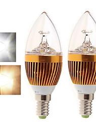 Ding Yao Lâmpada Vela E14 15 W 400-450 LM 2800-3500/6000-6500 K Branco Quente/Branco Frio 5LED COB 2 pçs AC 85-265 V