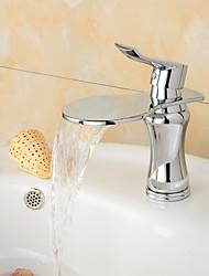 fini chrome contemporaine grande échelle de la bouche cascade lavabo robinet (court) - ruban