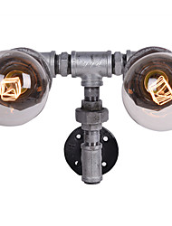 estilo loft tubería retro agua lámpara de pared luces del pasillo de la vendimia de óxido de hierro altillo color marrón rural restaurar