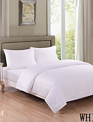 "Heniemo Sheet Set, 4-Piece 100% Cotton 500 Thread Count,Embroidery,Solid with 16""-20"" Pocket Depth"