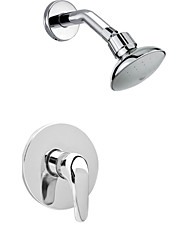 3'' Contemporary Chrome Rainfall Shower Faucet Set Conceal Install